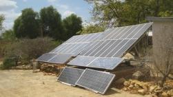 Tulear, Madagascar. Solar panels at the arboretum.